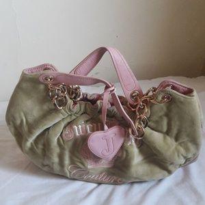 Juicy couture handbag100% cow hide leather+cotton